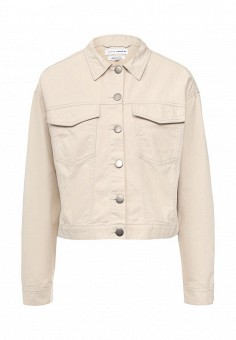 Куртка джинсовая, Native Youth, цвет: бежевый. Артикул: NA022EWSFC47. Женская одежда / Верхняя одежда / Джинсовые куртки