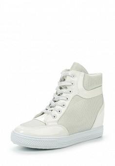 Кеды на танкетке, Niweile, цвет: белый. Артикул: NI018AWQHL34. Женская обувь / Кроссовки и кеды