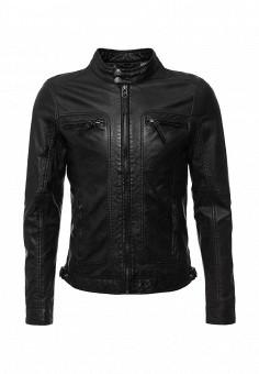 Куртка кожаная, Oakwood, цвет: черный. Артикул: OA002EMHQE04. Мужская одежда / Верхняя одежда