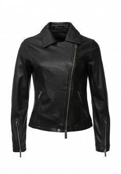 Куртка кожаная, Oakwood, цвет: черный. Артикул: OA002EWJJJ91. Женская одежда / Верхняя одежда / Кожаные куртки