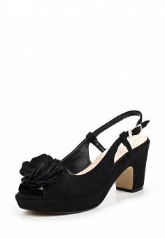 Босоножки, Obsel, цвет: черный. Артикул: OB005AWQEJ96. Женская обувь / Босоножки