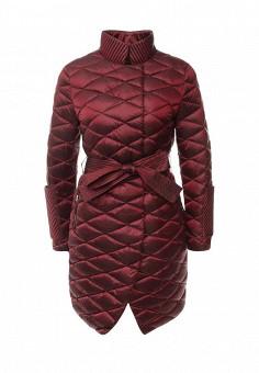 Пуховик, Odri, цвет: бордовый. Артикул: OD001EWLWT17. Женская одежда / Верхняя одежда / Пуховики и зимние куртки