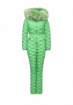 Комбинезон, Odri, цвет: зеленый. Артикул: OD001EWLWT36. Женская одежда / Верхняя одежда / Пуховики и зимние куртки