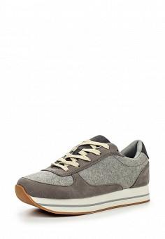 Кроссовки, oodji, цвет: серый. Артикул: OO001AWJYZ26. Женская обувь / Кроссовки и кеды