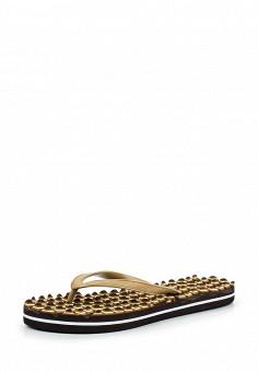 Шлепанцы, oodji, цвет: коричневый. Артикул: OO001AWPCT31. Женская обувь / Шлепанцы и акваобувь