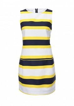 Платье, oodji, цвет: белый. Артикул: OO001EWLAU31. Женская одежда / Платья и сарафаны / Летние платья