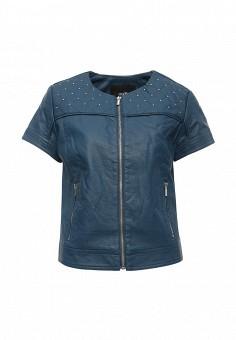 Куртка кожаная, oodji, цвет: синий. Артикул: OO001EWRGY66. Женская одежда / Верхняя одежда / Кожаные куртки