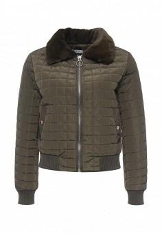 Куртка утепленная, Paccio, цвет: хаки. Артикул: PA060EWQOB21. Женская одежда / Верхняя одежда / Демисезонные куртки