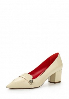 Туфли, Pura Lopez, цвет: бежевый. Артикул: PU761AWQLR35. Премиум / Обувь / Туфли