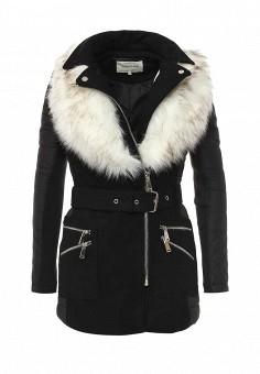 Куртка утепленная, River Island, цвет: черный. Артикул: RI004EWKVY84. Женская одежда / Верхняя одежда / Пуховики и зимние куртки