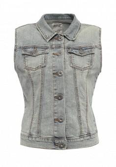 Жилет джинсовый, Rifle, цвет: голубой. Артикул: RI369EWRRW38. Женская одежда / Верхняя одежда / Жилеты