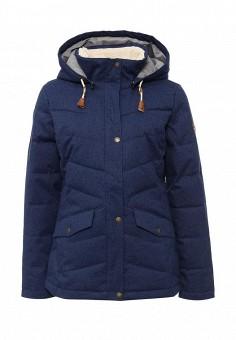 Куртка утепленная, Roxy, цвет: синий. Артикул: RO165EWKCF56. Женская одежда / Верхняя одежда / Пуховики и зимние куртки