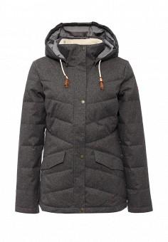 Куртка утепленная, Roxy, цвет: серый. Артикул: RO165EWKCF57. Женская одежда / Верхняя одежда / Пуховики и зимние куртки