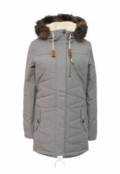 Куртка утепленная, Roxy, цвет: серый. Артикул: RO165EWKCF64. Женская одежда / Верхняя одежда / Пуховики и зимние куртки