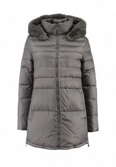 Пуховик, Sela, цвет: серый. Артикул: SE001EWFTF95. Женская одежда / Верхняя одежда / Пуховики и зимние куртки
