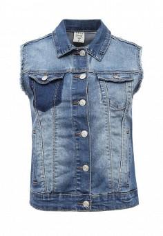 Жилет джинсовый, Sela, цвет: синий. Артикул: SE001EWQXH39. Женская одежда / Верхняя одежда / Жилеты