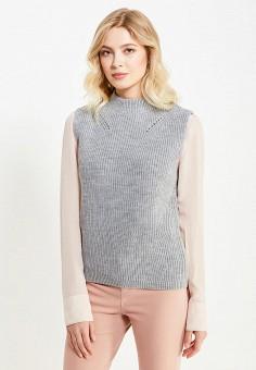 Жилет, Sela, цвет: серый. Артикул: SE001EWURQ42. Женская одежда / Джемперы, свитеры и кардиганы / Пончо, жилеты и накидки