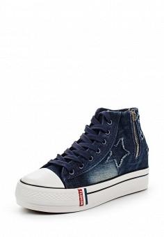 Кеды, Sergio Todzi, цвет: синий. Артикул: SE025AWSOU24. Женская обувь / Кроссовки и кеды