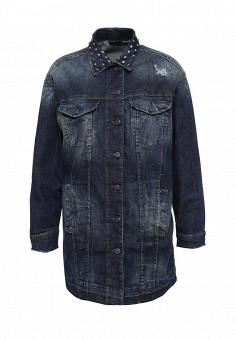 Куртка джинсовая, Sisley, цвет: серый. Артикул: SI007EWPIP45. Женская одежда / Верхняя одежда / Джинсовые куртки