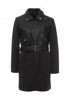 Плащ, Sisley, цвет: черный. Артикул: SI007EWPIQ29. Женская одежда / Верхняя одежда / Плащи и тренчкоты