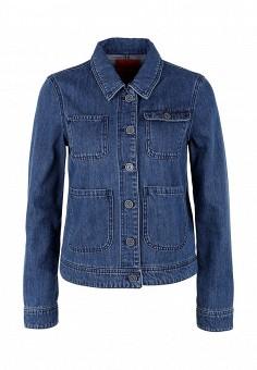 Куртка джинсовая, s.Oliver, цвет: синий. Артикул: SO917EWPXS61. Женская одежда / Верхняя одежда / Джинсовые куртки