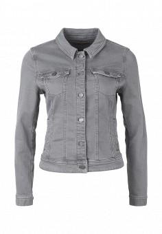 Куртка джинсовая, s.Oliver, цвет: серый. Артикул: SO917EWQKG36. Женская одежда / Верхняя одежда / Джинсовые куртки