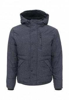 Куртка утепленная, Springfield, цвет: синий. Артикул: SP014EMKMB06. Мужская одежда / Верхняя одежда