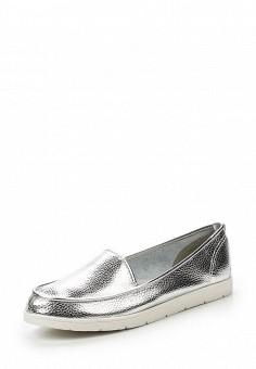 Мокасины, Sparkling, цвет: серебряный. Артикул: SP315AWSBW77. Женская обувь / Мокасины и топсайдеры