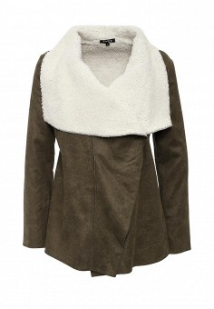 Дубленка, Stella Morgan, цвет: хаки. Артикул: ST041EWHHP37. Женская одежда / Верхняя одежда / Шубы и дубленки