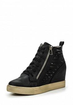 Кеды на танкетке, Sweet Shoes, цвет: черный. Артикул: SW010AWRWL36. Женская обувь / Кроссовки и кеды