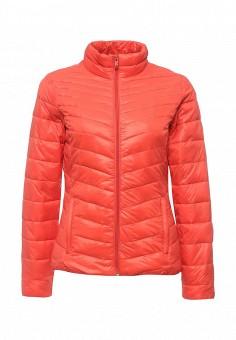 Куртка утепленная, Time For Future, цвет: коралловый. Артикул: TI016EWRJE44. Женская одежда / Верхняя одежда / Демисезонные куртки