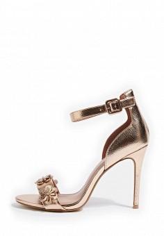Босоножки, Topshop, цвет: золотой. Артикул: TO029AWSIO48. Женская обувь / Босоножки