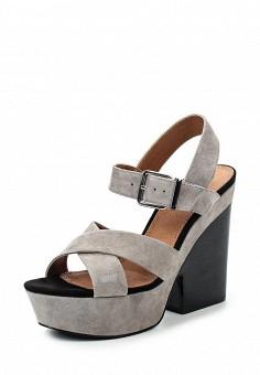 Босоножки, Topshop, цвет: серый. Артикул: TO029AWSMH74. Женская обувь / Босоножки