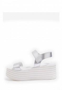 Босоножки, Topshop, цвет: серебряный. Артикул: TO029AWTQX32. Женская обувь / Босоножки
