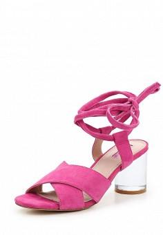 Босоножки, Topshop, цвет: розовый. Артикул: TO029AWUBU97. Женская обувь / Босоножки