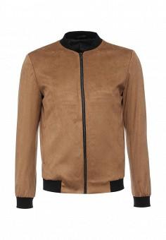 Куртка утепленная, Topman, цвет: коричневый. Артикул: TO030EMLXM42. Мужская одежда / Верхняя одежда