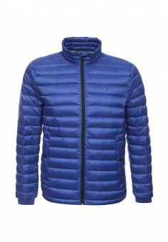 Пуховик, Tommy Hilfiger, цвет: синий. Артикул: TO263EMOCP97. Мужская одежда / Верхняя одежда / Пуховики и зимние куртки
