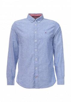 Рубашка, Tommy Hilfiger, цвет: голубой. Артикул: TO263EMQGD26. Мужская одежда / Рубашки