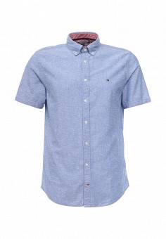 Рубашка, Tommy Hilfiger, цвет: голубой. Артикул: TO263EMQGD72. Мужская одежда / Рубашки