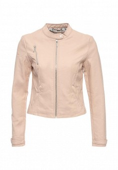 Куртка кожаная, Top Secret, цвет: розовый. Артикул: TO795EWQKA50. Женская одежда / Верхняя одежда / Кожаные куртки
