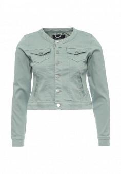 Куртка джинсовая, Top Secret, цвет: зеленый. Артикул: TO795EWRWH55. Женская одежда / Верхняя одежда / Джинсовые куртки