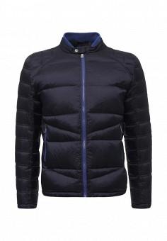 Пуховик, Trussardi Jeans, цвет: синий. Артикул: TR016EMUWE40. Мужская одежда / Верхняя одежда / Пуховики и зимние куртки