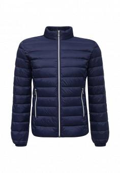 Пуховик, Trussardi Jeans, цвет: синий. Артикул: TR016EMUWE44. Мужская одежда / Верхняя одежда / Пуховики и зимние куртки