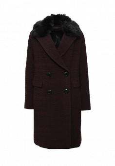Пальто, Trussardi Jeans, цвет: бордовый. Артикул: TR016EWJOF80. Премиум / Одежда / Верхняя одежда / Пальто