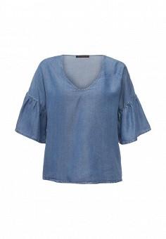 Блуза, Trussardi Jeans, цвет: голубой. Артикул: TR016EWOOP96. Женская одежда