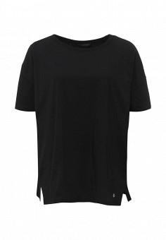 Футболка, Trussardi Jeans, цвет: черный. Артикул: TR016EWOOQ20. Женская одежда