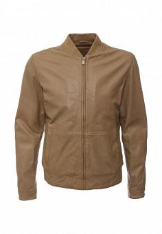 Куртка кожаная, Tru Trussardi, цвет: коричневый. Артикул: TR776EMHDK50. Мужская одежда / Верхняя одежда / Кожаные куртки