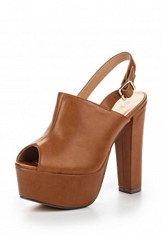 Босоножки, Tulipano, цвет: коричневый. Артикул: TU005AWSSH97. Женская обувь / Босоножки