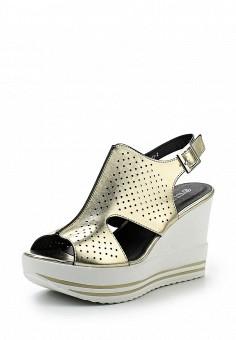 Босоножки, Tulipano, цвет: золотой. Артикул: TU005AWSSI35. Женская обувь / Босоножки