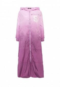 Плащ, Twin-Set Simona Barbieri, цвет: фиолетовый. Артикул: TW005EWOWK14. Премиум / Одежда / Верхняя одежда / Плащи и тренчкоты